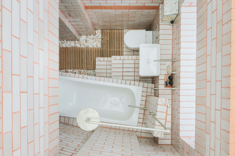 Bathroom from above